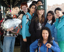 Students from Churchill School in NYC